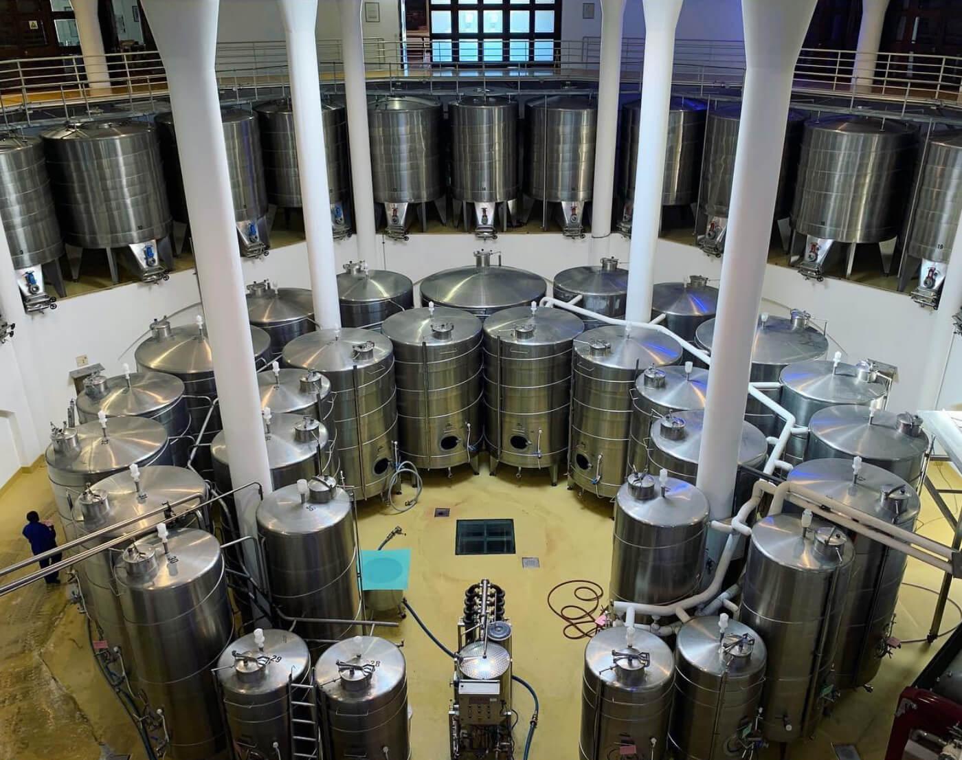 Wine tanks at the Vergelegen cellar